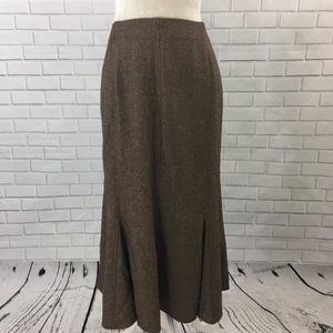 Long Brown Modest Dressbarn Godet Skirt
